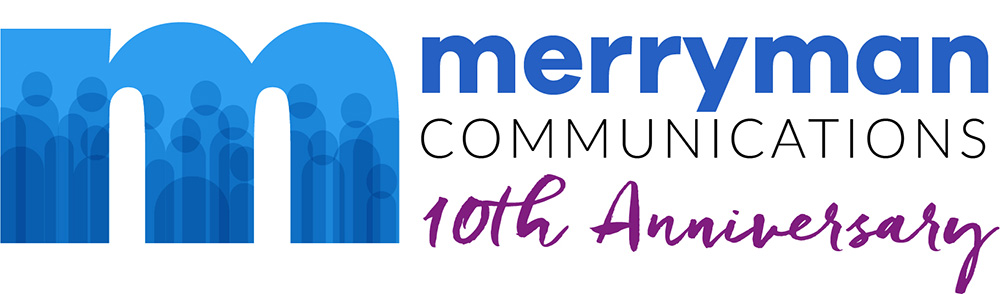 Merryman Communications 10th Anniversary logo
